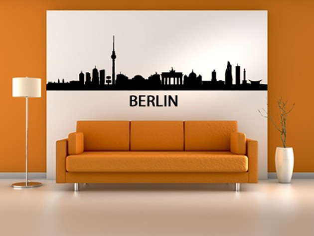 wandtatto skyline berlin. Black Bedroom Furniture Sets. Home Design Ideas