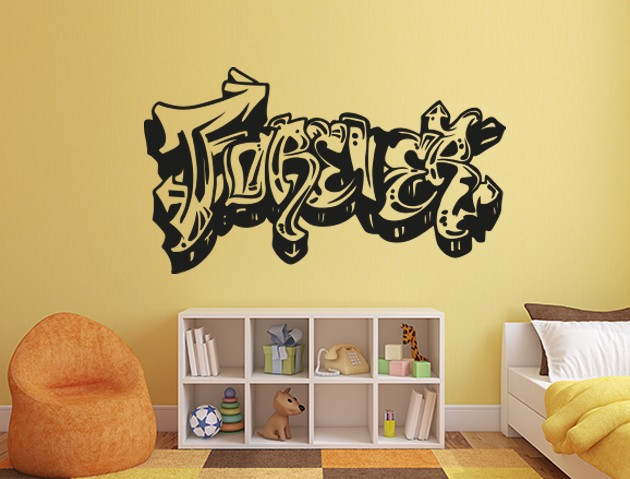 wandtattoo forever graffiti. Black Bedroom Furniture Sets. Home Design Ideas