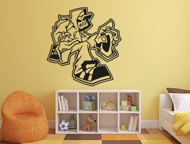 wandtattoo graffiti sprayer. Black Bedroom Furniture Sets. Home Design Ideas