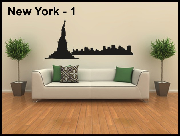 Wandtattoo Aufkleber Skyline New York - 1