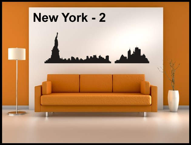 Wandtattoo Aufkleber Skyline New York - 2