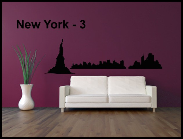 Wandtattoo Aufkleber Skyline New York - 3