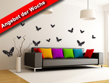 Wandtattoo Schmetterlinge - Schmetterling 001 Set 2