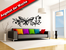 Schmetterling Ranke 003 Wandtattoo